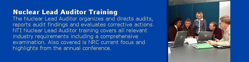 NQA1 Lead Auditor Training