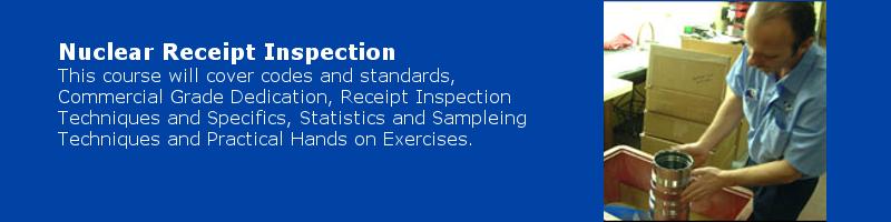 Nuclear Receipt Inspection Training